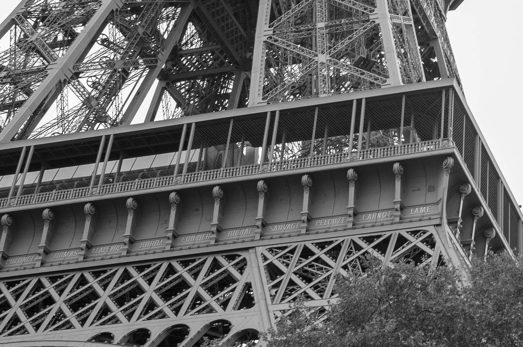 Detailausschnitt des Eiffelturms